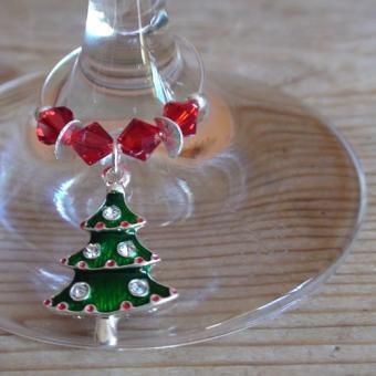 Weinglasring Christbaum