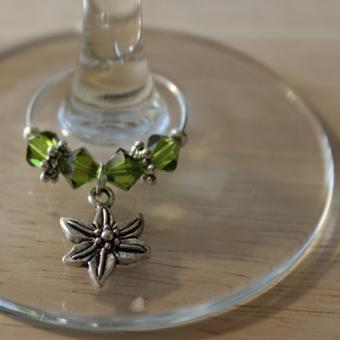 Weinglasring Blume/Edelweiß
