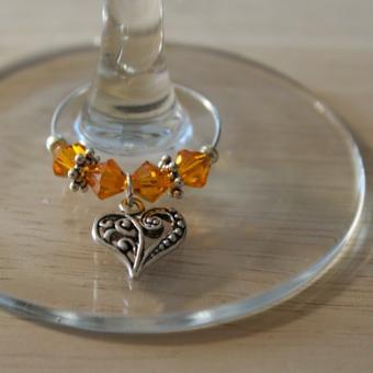 Weinglasring Herz
