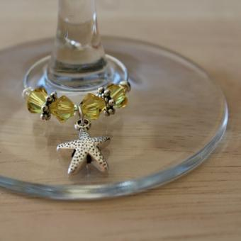 Weinglasring Seestern