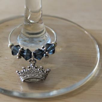 Weinglasring Krone