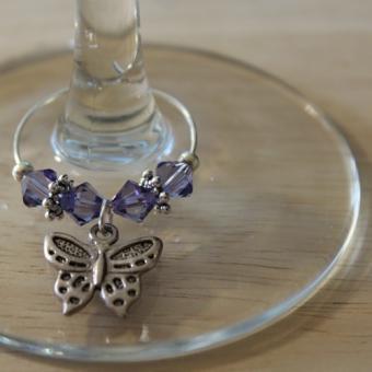 Weinglasring Schmetterling