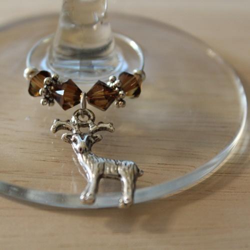 Weinglasring Hirsch